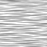 Modello geometrico in bianco e nero Priorità bassa astratta senza giunte Banda di vettore, linee Linea orizzontale modello di vel Fotografie Stock