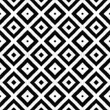 Modello geometrico in bianco e nero quadrato/del rombo in simmetrico, vettore e astrattismo illustrazione di stock