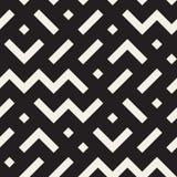 Modello geometrico in bianco e nero senza cuciture di miscuglio di forme di vettore Fotografia Stock