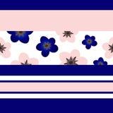 Modello geometrico con i fiori Illustrazione Vettoriale