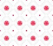 Modello geometrico con i fiori astratti Fotografia Stock Libera da Diritti