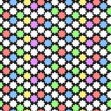 Modello geometrico con l'ornamento astratto nei colori pastelli Stampa audace della geometria nello stile di art deco Fondo senza Fotografia Stock