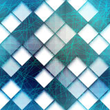 Modello geometrico con le linee verde Immagine Stock Libera da Diritti