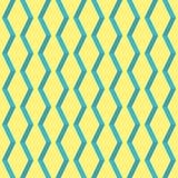 Modello geometrico d'annata dell'elemento di giallo stupefacente di Pop art Fotografia Stock