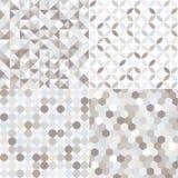 Modello geometrico d'argento senza cuciture delle mattonelle Fotografia Stock