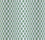 Modello geometrico degli ovali Reticolo verde Fondo di illusione illustrazione vettoriale