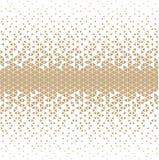 Modello geometrico del triangolo della stampa di progettazione di modo dei pantaloni a vita bassa dell'oro astratto royalty illustrazione gratis