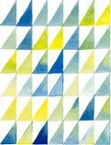 Modello geometrico dell'acquerello senza cuciture Vettore illustrazione vettoriale