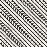 Modello geometrico dell'inchiostro semplice Fondo in bianco e nero monocromatico dei colpi Struttura disegnata a mano dell'inchio fotografie stock libere da diritti