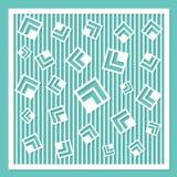 Modello geometrico dell'ornamento Carta per il taglio del laser Elemento decorativo di disegno Modello circolare Immagini Stock