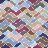 Modello geometrico della rappezzatura nei colori di tendenza royalty illustrazione gratis