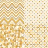 Modello geometrico delle mattonelle dell'oro senza cuciture Fotografie Stock