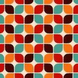 Modello geometrico delle retro mattonelle senza cuciture illustrazione di stock