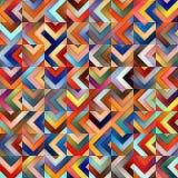 Modello geometrico delle tonalità del quadro televisivo di pendenza delle mattonelle diagonali multicolori senza cuciture delle b Fotografia Stock