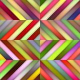 Modello geometrico delle tonalità di vettore di pendenza delle mattonelle diagonali multicolori senza cuciture delle bande Fotografia Stock