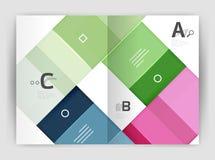 Modello geometrico di affari dell'opuscolo a4 Fotografia Stock