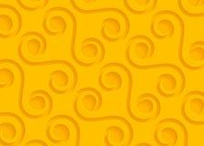 Modello geometrico di carta giallo, modello astratto del fondo per il sito Web, insegna, biglietto da visita, invito Fotografia Stock Libera da Diritti