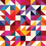 Modello geometrico di forme del triangolo Fotografie Stock Libere da Diritti