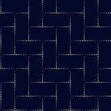 Modello geometrico di vettore nello stile di semitono con effetto brillante Immagini Stock