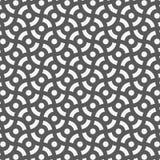 Modello geometrico di vettore, ripetente il cerchio di caos in bianco e nero illustrazione di stock
