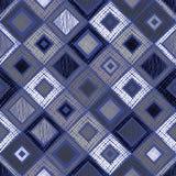 Modello geometrico di vettore senza cuciture con il rombo, quadrati, fondo senza fine di rettangoli con la figura geometrica stru Immagini Stock Libere da Diritti