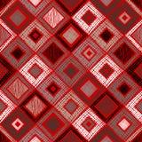 Modello geometrico di vettore senza cuciture con il rombo, quadrati, fondo senza fine di rettangoli con la figura geometrica stru Fotografia Stock Libera da Diritti