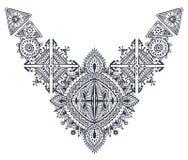 Modello geometrico disegnato a mano di boho tribale di arte royalty illustrazione gratis