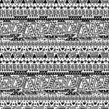 Modello geometrico etnico in bianco e nero dell'estratto royalty illustrazione gratis