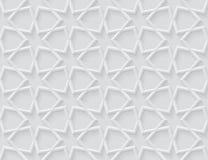 Modello geometrico leggero grigio nello stile arabo royalty illustrazione gratis
