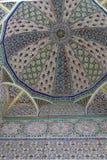 Modello geometrico, mattonelle in moschea, Fes, Marocco fotografia stock