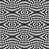 Modello geometrico monocromatico senza cuciture di progettazione Fotografia Stock Libera da Diritti