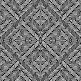 Modello geometrico monocromatico senza cuciture di progettazione Fotografie Stock