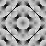 Modello geometrico monocromatico senza cuciture di progettazione Fotografia Stock