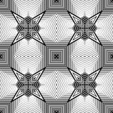 Modello geometrico monocromatico senza cuciture di progettazione Immagine Stock Libera da Diritti