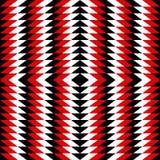 Modello geometrico nero, bianco, rosso Fotografia Stock Libera da Diritti