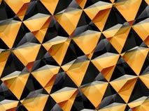 Modello geometrico nero giallo 3d dell'estratto fotografie stock libere da diritti