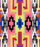 Modello geometrico orientale sul tessuto Fotografie Stock