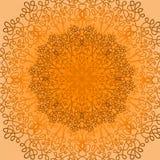 Modello geometrico ornamentale rotondo del centrino Immagini Stock