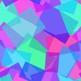 Modello geometrico poligonale astratto di vettore senza cuciture porpora e blu Fotografia Stock Libera da Diritti