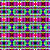 Modello geometrico sconosciuto psichedelico Immagine Stock