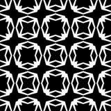 Modello geometrico senza cuciture in bianco e nero Fotografie Stock Libere da Diritti
