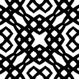 Modello geometrico senza cuciture in bianco e nero Fotografia Stock Libera da Diritti