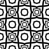 Modello geometrico senza cuciture in bianco e nero Fotografie Stock
