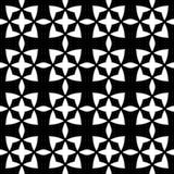 Modello geometrico senza cuciture in bianco e nero Immagine Stock