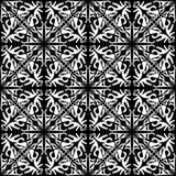 Modello geometrico senza cuciture in bianco e nero immagini stock