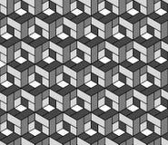 Modello geometrico senza cuciture con i cubi. Fotografia Stock