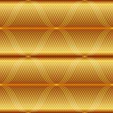 Modello geometrico senza cuciture dell'oro Immagini Stock Libere da Diritti