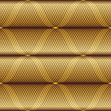 Modello geometrico senza cuciture dell'oro Immagine Stock