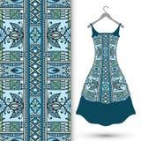 Modello geometrico senza cuciture di modo, il vestito delle donne Immagini Stock Libere da Diritti