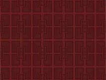 Modello geometrico senza cuciture nel retro stile Elementi decorativi della mobilia Vettore Immagine Stock Libera da Diritti